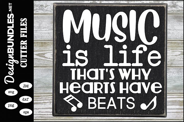 Music Is Life SVG