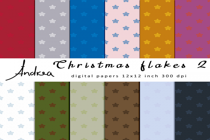 Christmas flakes 2 seamless pattern