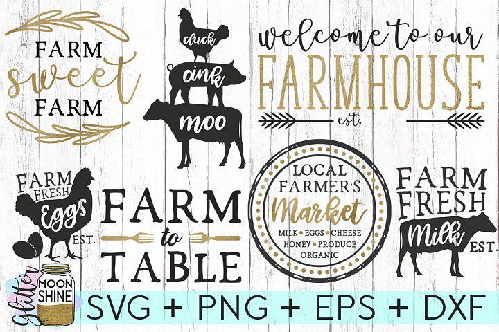 Farmhouse Bundle Set SVG DXF PNG EPS Cutting Files