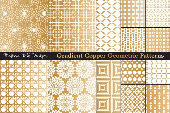 Copper Geometric Patterns