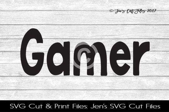 Gamer SVG Cut File