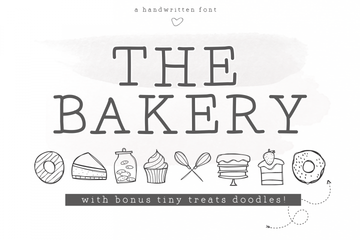 The Bakery - Handwritten Serif and Doodle Font