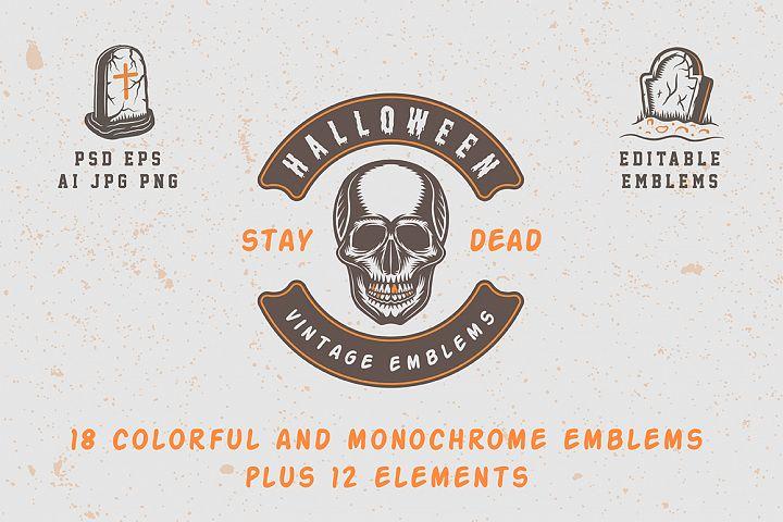 Vintage Halloween Emblems Part 2