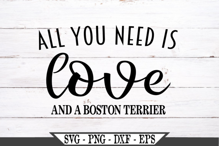 All You Need Is Love And A Boston Terrier Dog SVG example image 2
