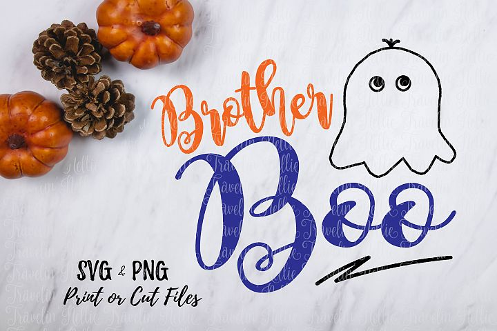 Brother Boo SVG Halloween Funny Ghost Image Boy Cut File