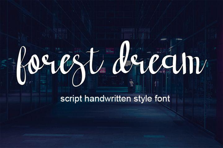forest dream script handwritten font