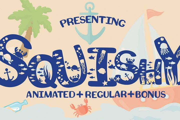 Squishy Craft Font for Beach & Summer Designs with Bonus