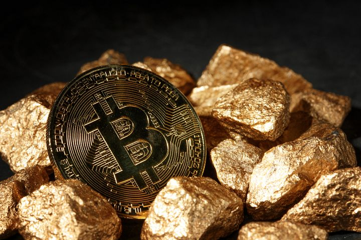 Golden Bitcoin Coin JPG set example 9