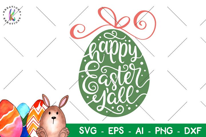 Happy Easter Yall svg Happy Easter