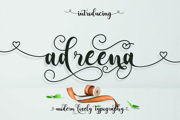 Adreena Lovely Font