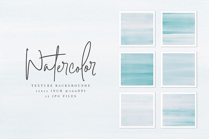 Light Blue Watercolor Texture Backgrounds
