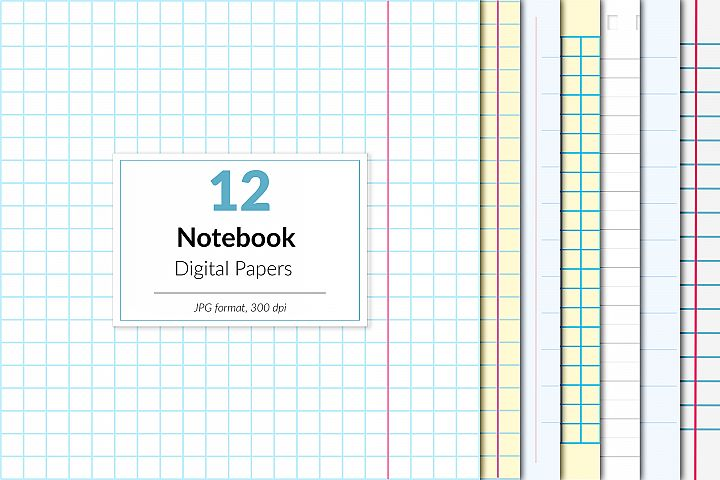 Notebook Digital Paper, School Paper, Homework, Exercise
