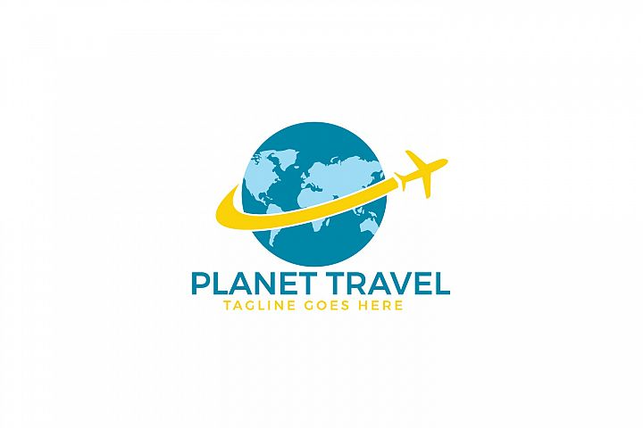 Planet Travel logo design. Travel agency sign.