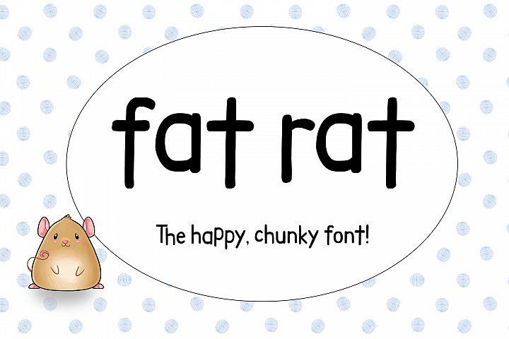 Fat Rat - a happy, chunky brush sans serif craft font