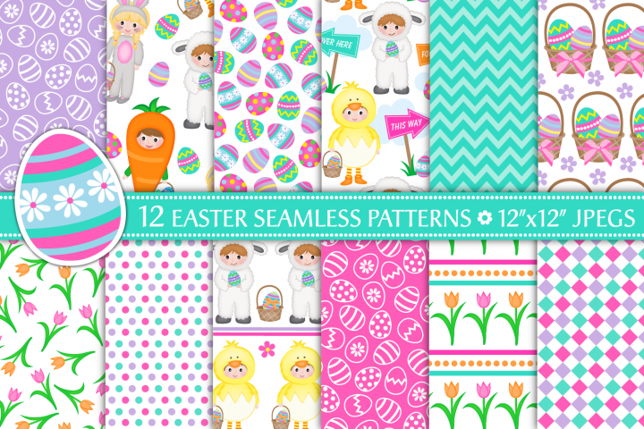 easter digital paper, Easter patterns, easter - P36