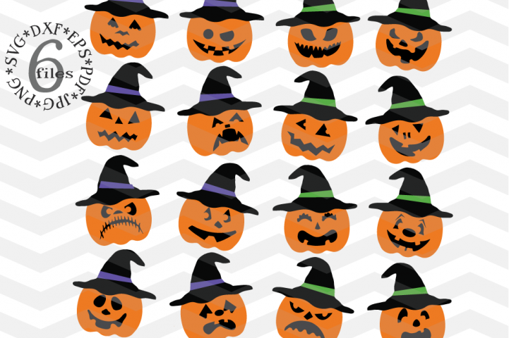Pumpkin hat svg - Spooky pumpkin faces cutting files