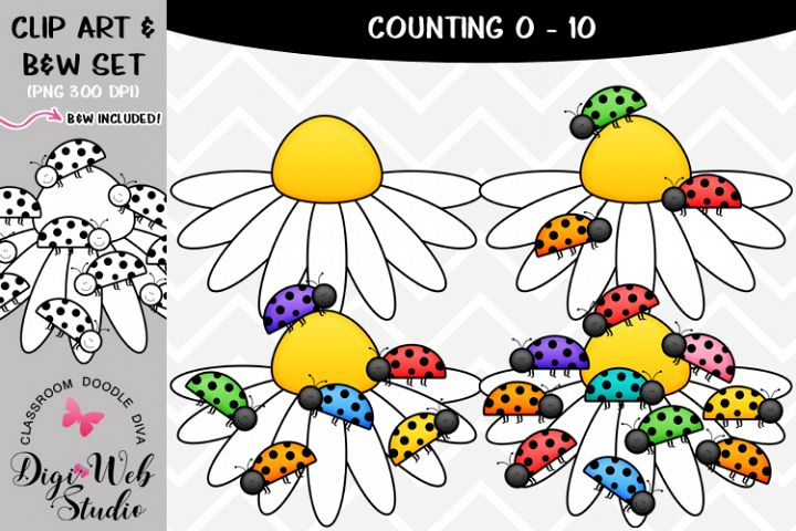 Clip Art / Illustrations - 0-10 Counting Ladybugs