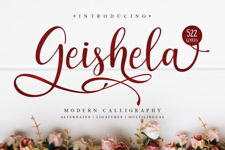 Geishela Script Font