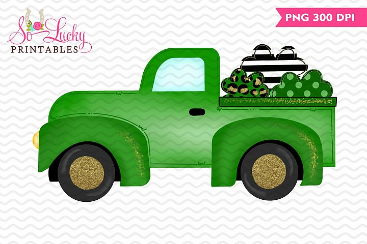 St Patricks Day Truck printable sublimation design