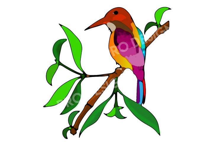 Water Color Effect Bird