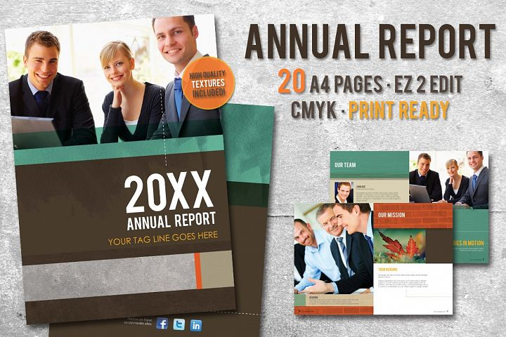 Annual Report Template 8.5 x 11 Letter