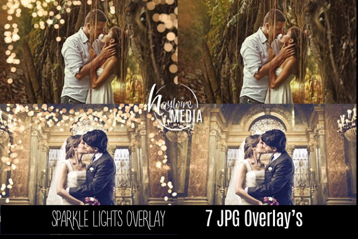 Digital Sparkle Bokeh Lights Effect Overlay JPG