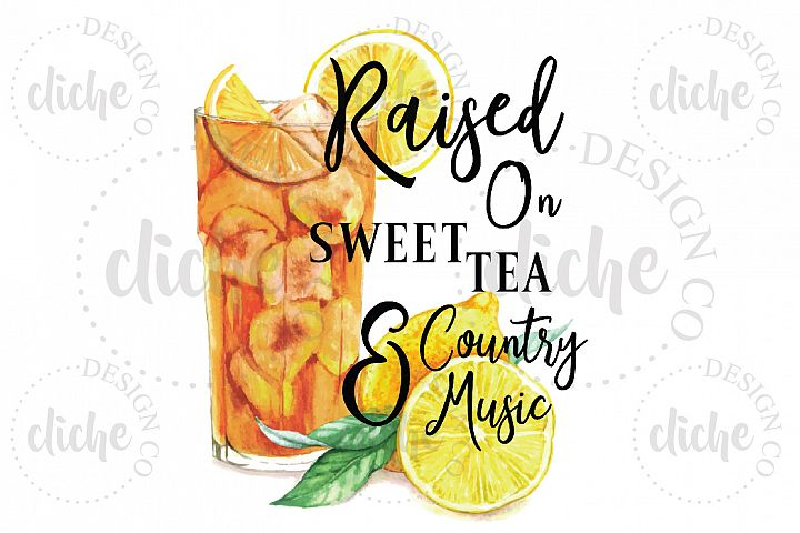 Sweet Tea Sublimation Design