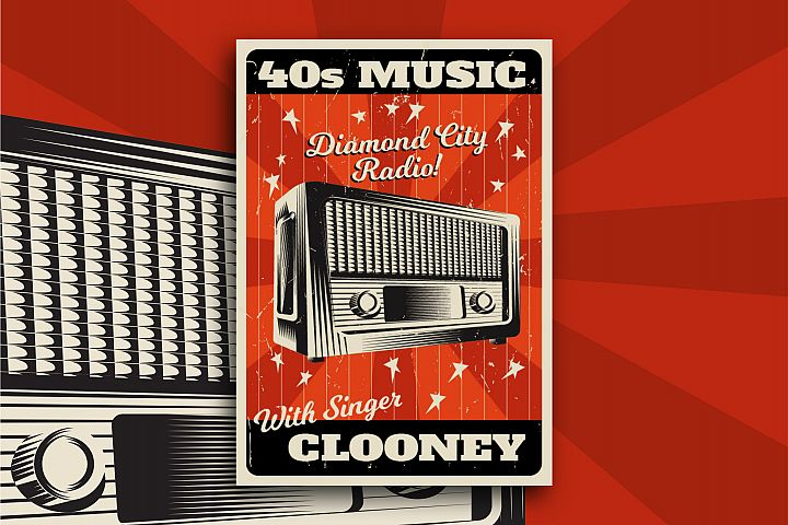 40s Music Flyer