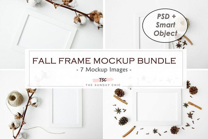 Fall Frame Mockup Bundle