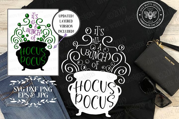 Its All A Bunch Of Hocus Pocus Halloween Cutting File