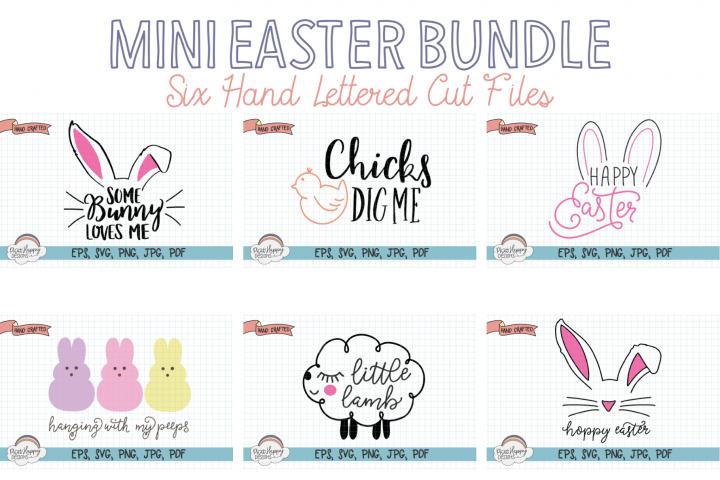 Mini Easter Bundle - 6 Hand Lettered Cut Files