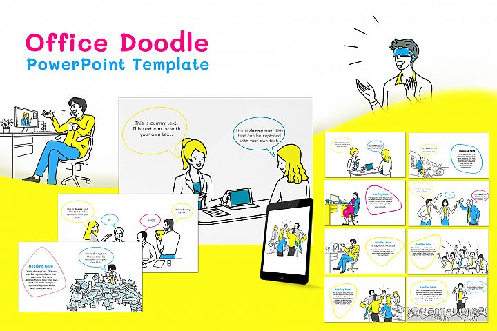 Office Doodle PowerPoint Template