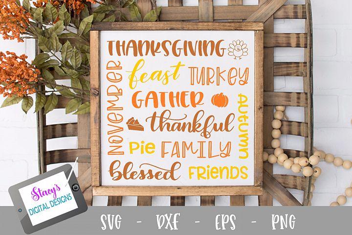 Thanksgiving Subway Art SVG - Thanksgiving SVG