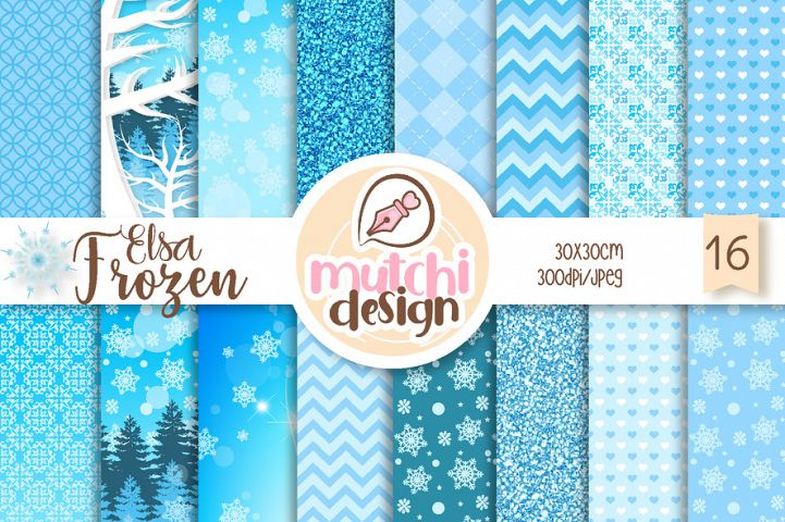 Frozen Elsa Digital Papers