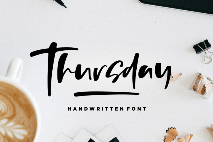 Thursday - Handwritten Font