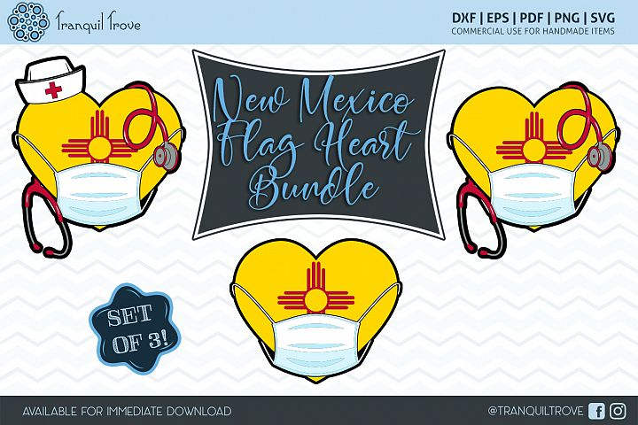 New Mexico Flag Heart Bundle