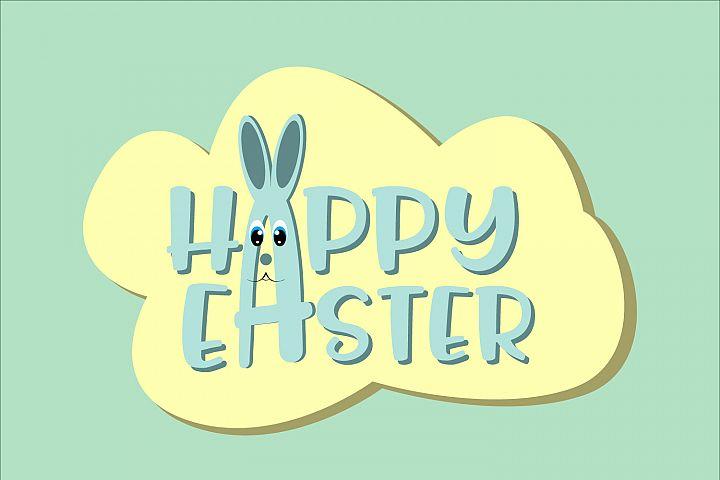 Happy Easter ,Easter Bunny Svg, Easter Monogram Svg Vectors
