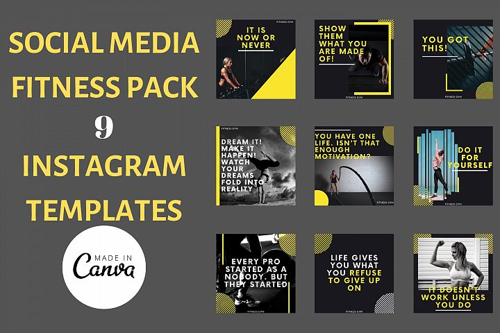 Instagram Post Template- Gym/ Fitness