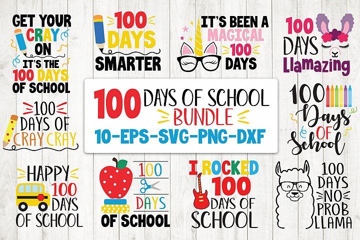 100 Days Of School Bundle Svg