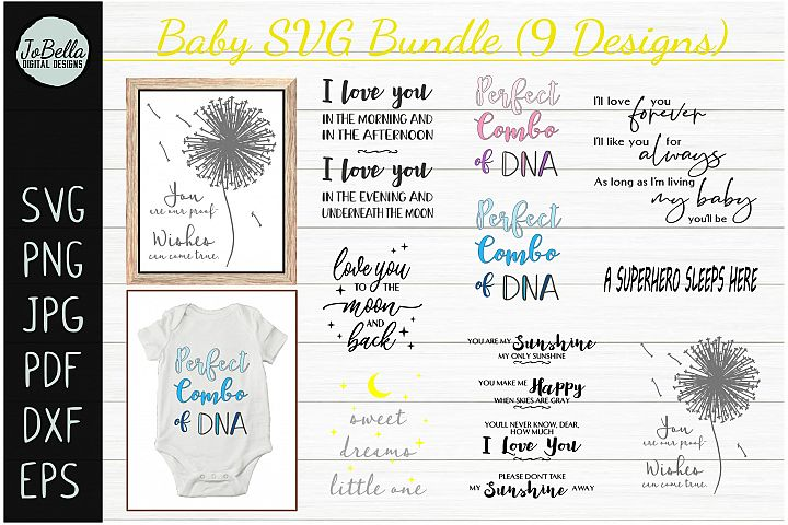 Baby SVG Bundle, Sublimation PNGs and Printables