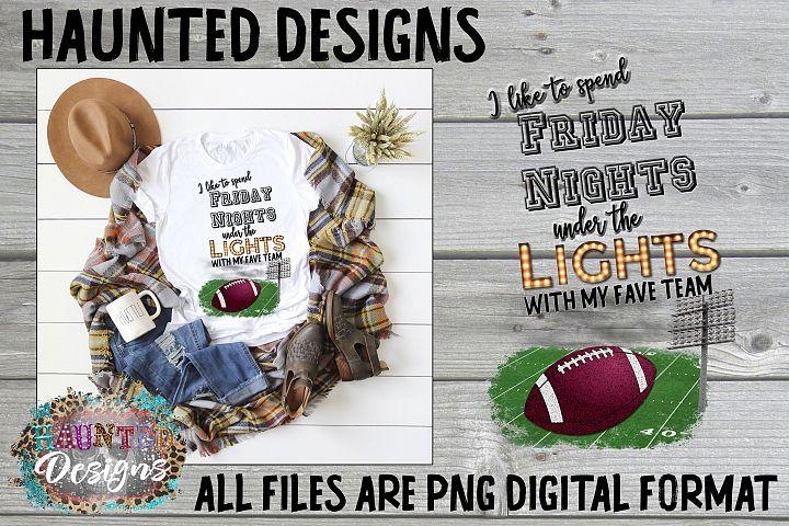 Friday Night Lights Football Clip Art PNG