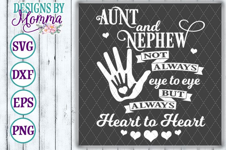 Aunt and Nephew Heart to Heart SVG
