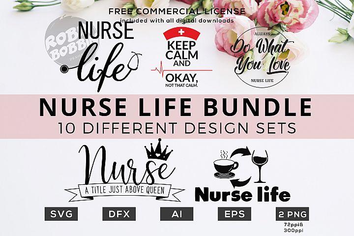 Nurse Life Bundle - Funny Nurse Quotes SVG Files