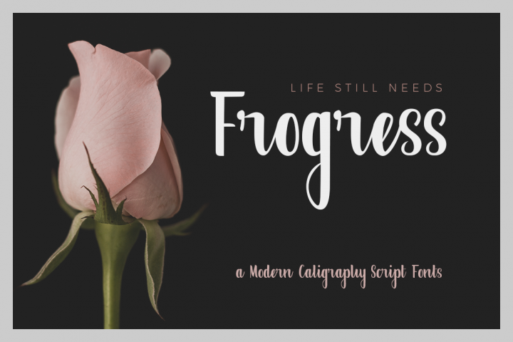 Frogress Fonts