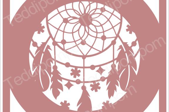 DREAMCATCHER SVG Papercut Frame, cricut silhouette svg Papercutting, Card Making,Digital Upload