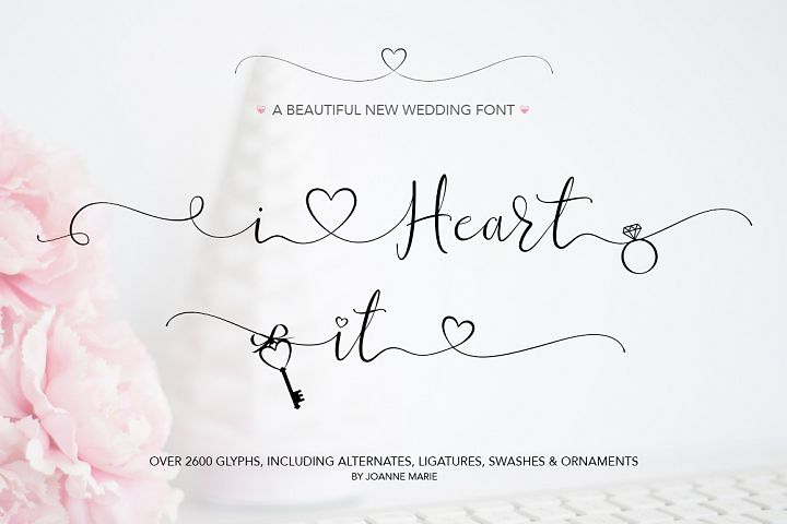 iHeart it wedding font