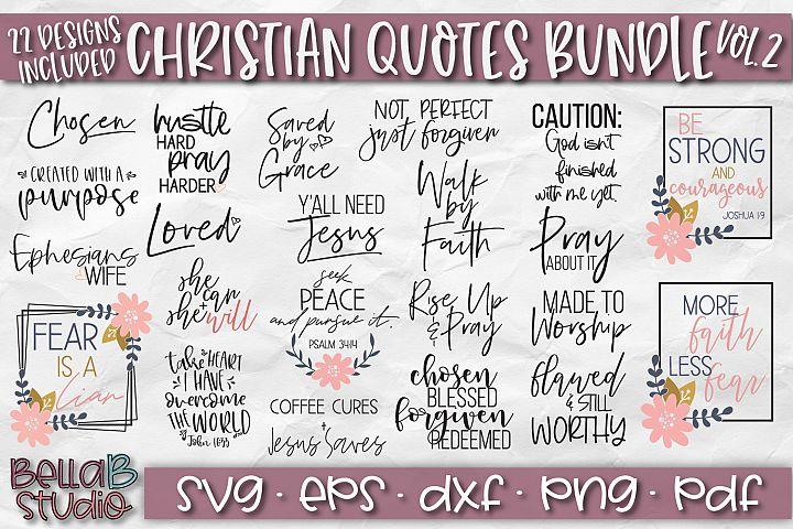 Christian Quotes SVG Bundle, Christian SVG Cut Files