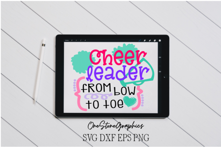 Cheerleader from bow to toe svg