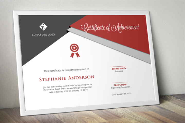Triangle Modern Word Event Certificate Template
