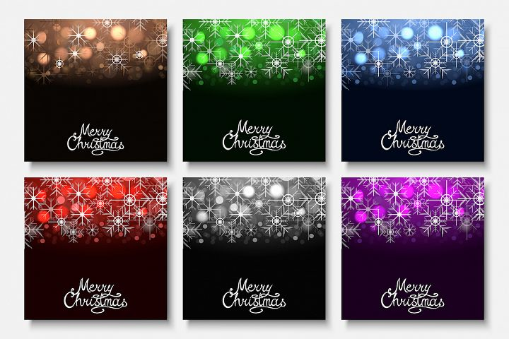 Christmas abstract colorful cards